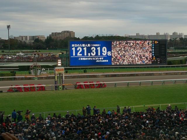 画像: G1当日は入場者数が発表されるが、この瞬間、会場は大いに盛り上がる。