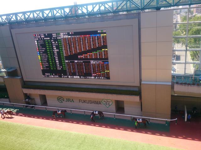 画像: 福島競馬場のバドック。