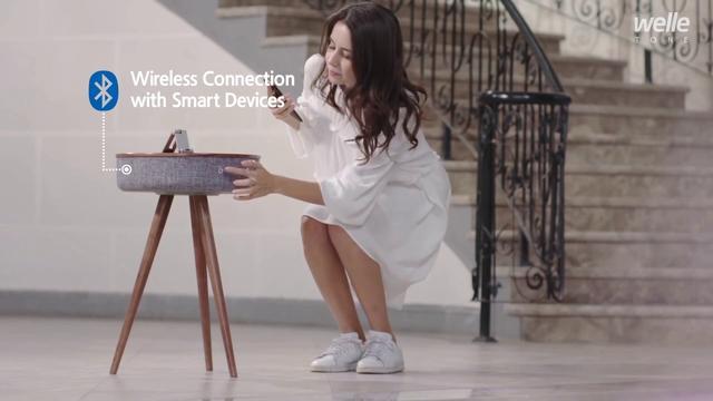 画像: welle Mellow Bluetooth スピーカーテーブル W301T youtu.be