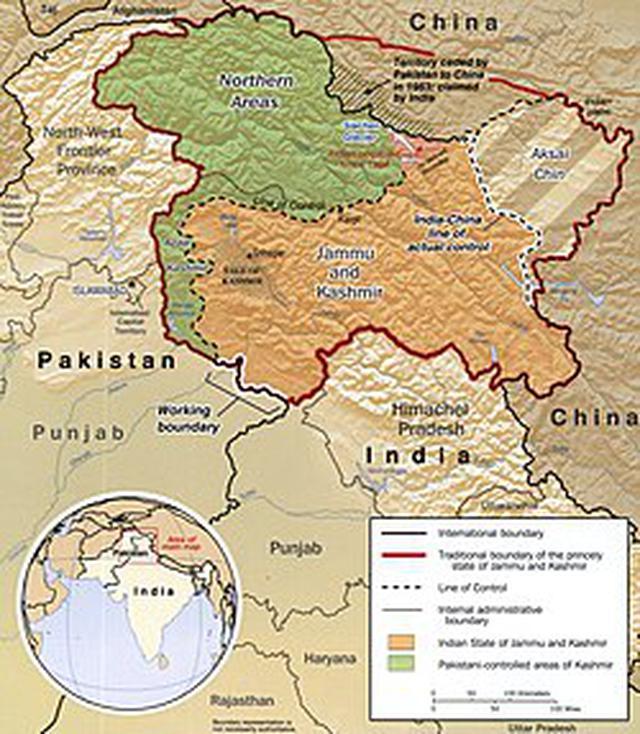 画像: カシミール紛争 - Wikipedia