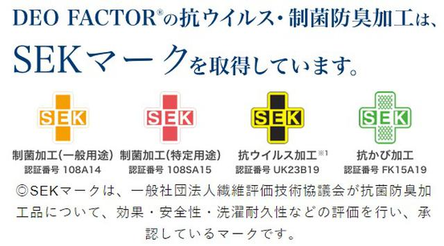 画像: SEKマークを4つ取得している日本で唯一の加工