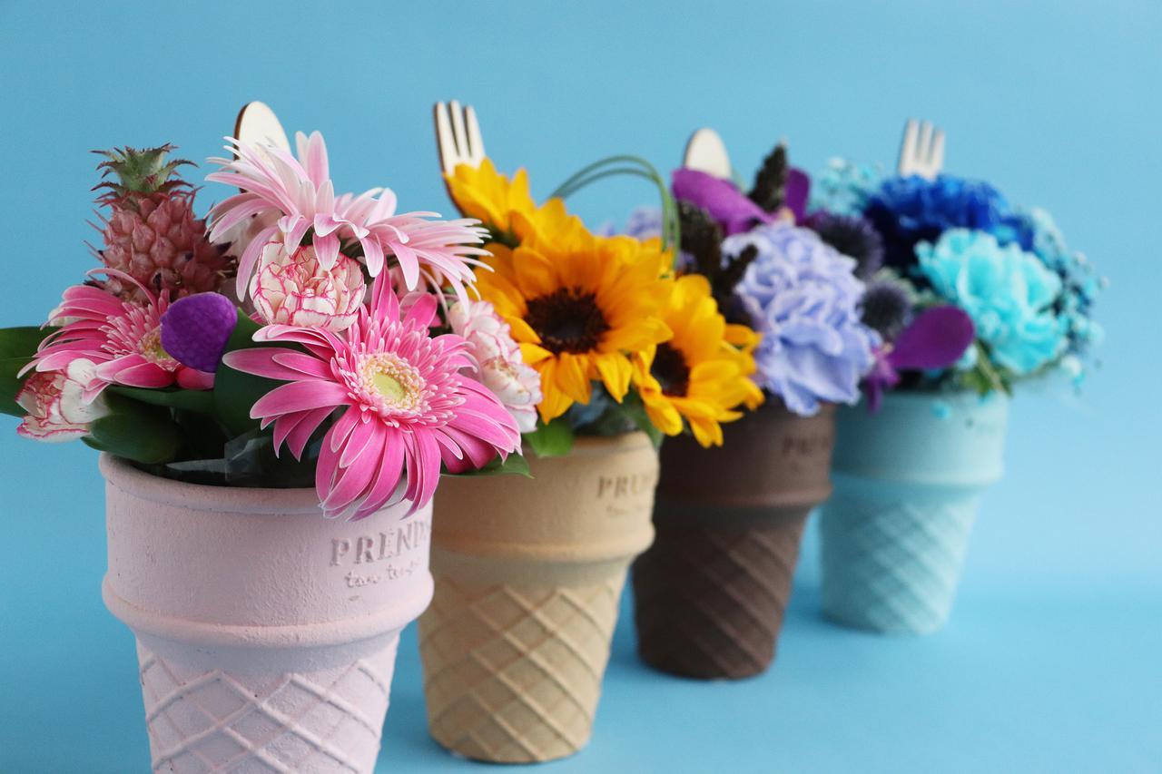 画像: 「お花」×「アイスクリーム」で暑い夏にぴったり!