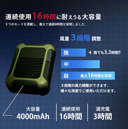 画像1: どこでも冷却可能!腰掛け扇風機で夏の熱中症予防対策