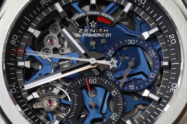画像: 6時位置のダイヤルは経過秒数。外周のリング部分で1/100秒計測を行う