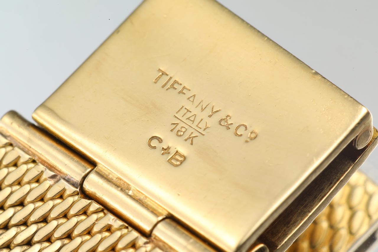 画像: ティファニー製の18Kメッシュブレスレット