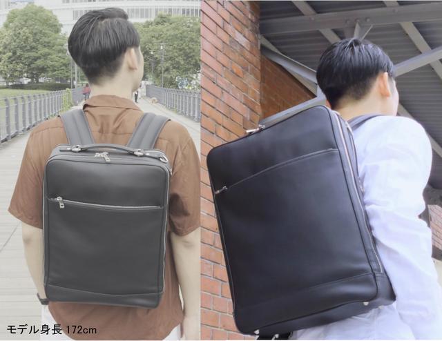 画像2: 創業130年の老舗鞄メーカーより「メンテナンスフリー牛革バックパック」が新登場
