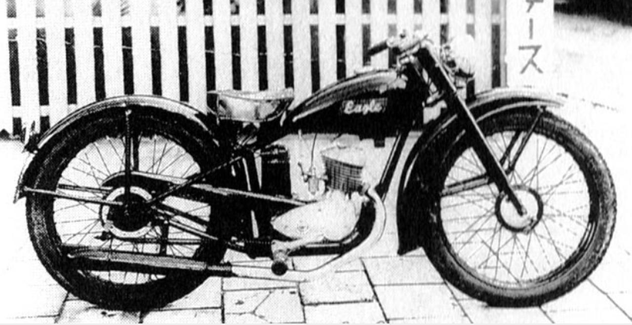 画像: 日本で最初のオートバイ「イーグル号」。藤壺モータースによるモノづくりの原点である