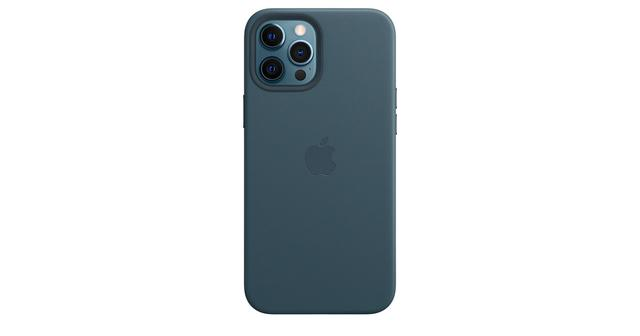 画像: MagSafe対応iPhone 12 Pro Maxレザーケース - バルティックブルー