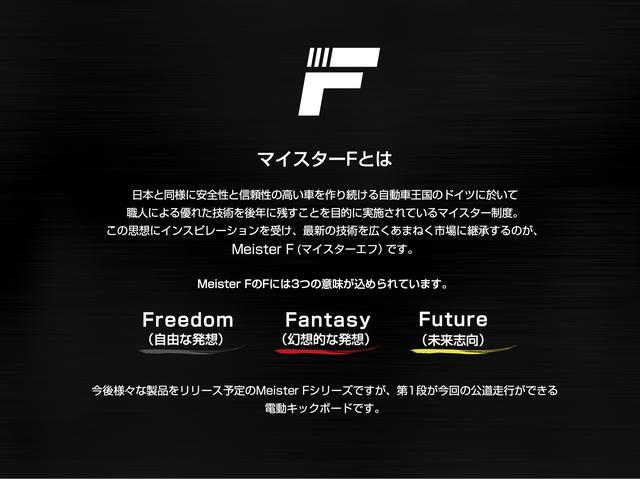 画像2: 公道走行可能な電動キックボード「マイスターF」が日本初上陸!