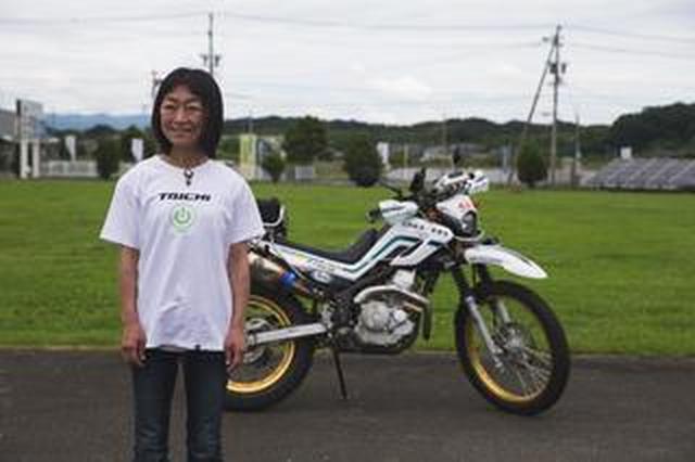 画像: 松下時子さんの、林道スペシャルセロー250と、スペシャルトランポ