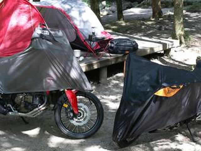 画像: 今後キャンプツーリングに行くなら、この「ハーフ」カバーは必携かも