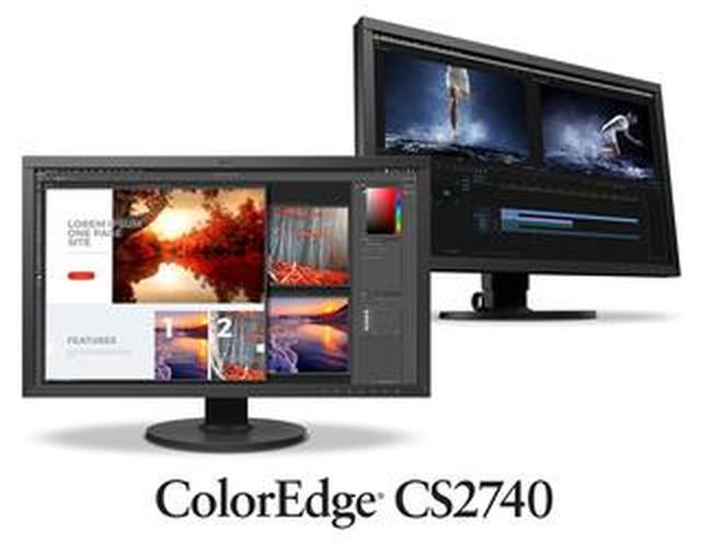 画像: プロ・ハイアマ向け27型4K UHDモニター EIZO ColorEdge CS2740が登場