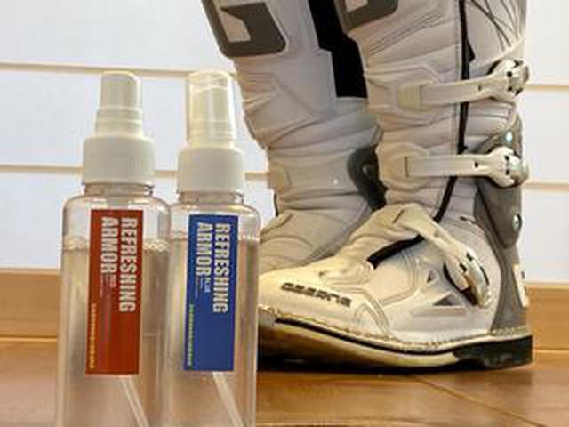 画像: 医療現場から来た、ライディングギアの殺菌・消臭剤