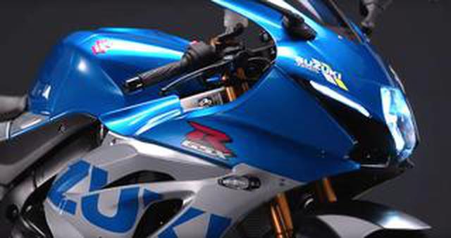 """画像: 【速報】スズキWEBモーターサイクルショーで「GSX-R1000R」の""""特別色""""となる「スズキ100周年カラー」が公開中! MotoGPマシン「GSX-RR」のカラーリングで市販化に期待!"""