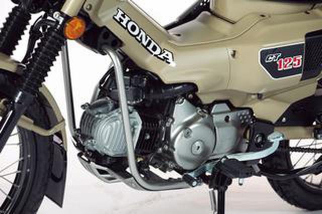画像: 新型ハンターカブの〈エンジン・フレーム・足回り〉を解説! ホンダ「CT125・ハンターカブ」のメカニズムを詳しくチェック!