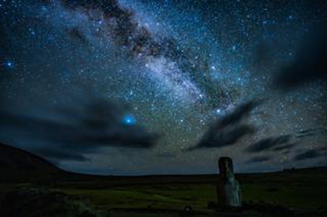 画像: 「モアイが立つ絶海の孤島 イースター島(Rapa Nui)の天の川」沼澤茂美