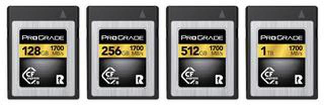 画像: プログレードデジタル、 最大読込速度1700MB/秒、最大書込速度1500/秒の CFexpress Type B GOLD 1700Rカード発売