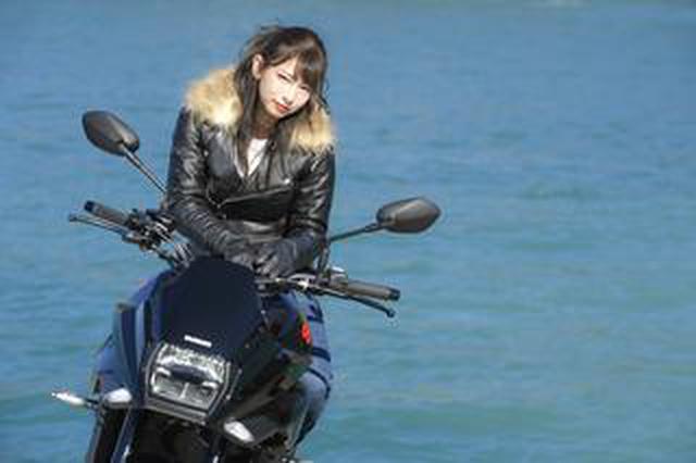 画像: 葉月美優×KATANA2【スズキのバイク!と女子ライダーのPHOTO GRAVURE】