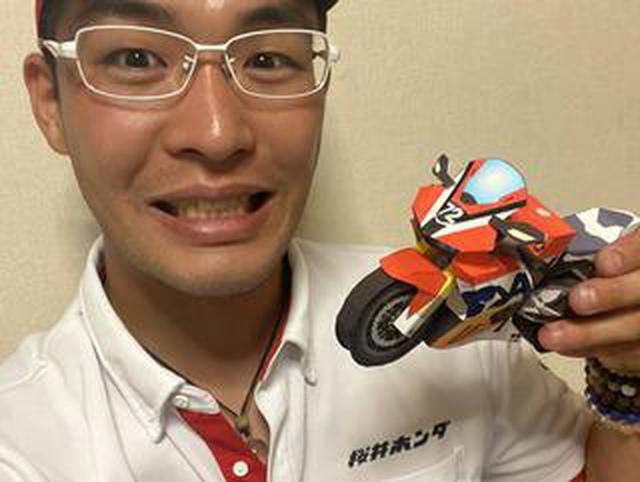 画像: 桜井ホンダ・カラーのCBR1000RR-R! 濱原颯道 選手の力作ペーパークラフト!(再投稿・笑)