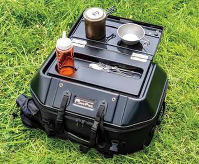 画像: シートバッグがテーブルに変身! 旅するライダーの強い味方、タナックス「キャンプテーブルシートバッグ」