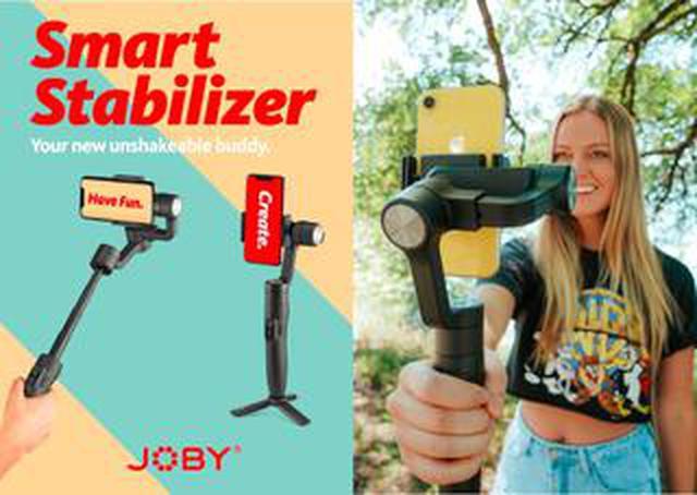 画像: スマホから手ブレ動画をシャットアウツッ! JOBY Smart Stabilizer