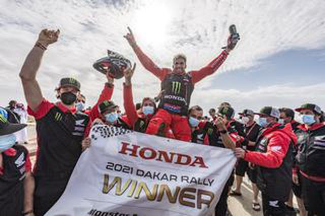 画像: ホンダが逃げ切り、1・2位フィニッシュで二連覇を達成 ダカールラリーステージ12
