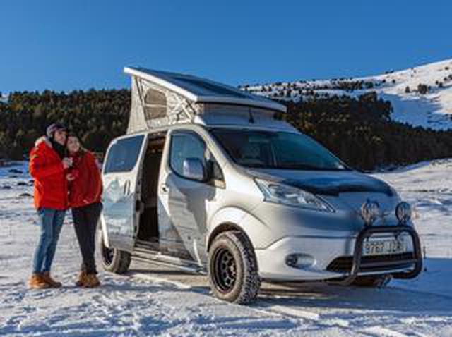 画像: 日産が「eーNV200 ウインターキャンパーコンセプト」をヨーロッパで公開。冬のアウトドアを充実させるカスタムカー