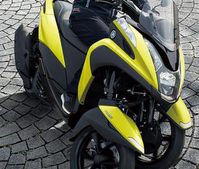 画像: ヤマハが原付二種「トリシティ125」の2021年モデルを発表! 鮮明な新色〈イエロー〉が登場