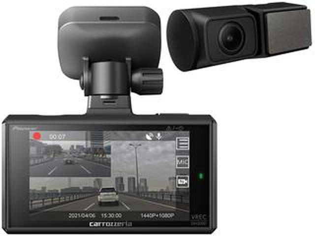 画像: カロッツェリアから前後2カメラタイプのドライブレコーダー「VREC-DH300D」が2021年5月に発売