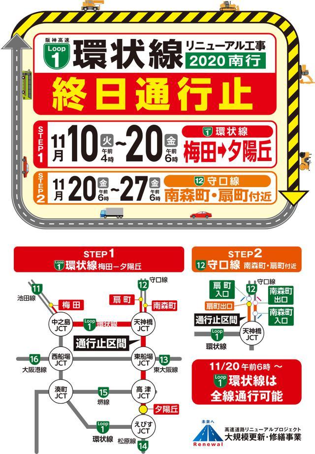 画像: 阪神高速 1号環状線リニューアル工事 2020南行特設サイト