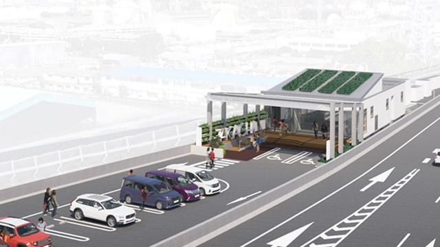 画像: 高石パーキングエリア 4号湾岸線(北行)|阪神高速道路株式会社 ドライバーズサイト