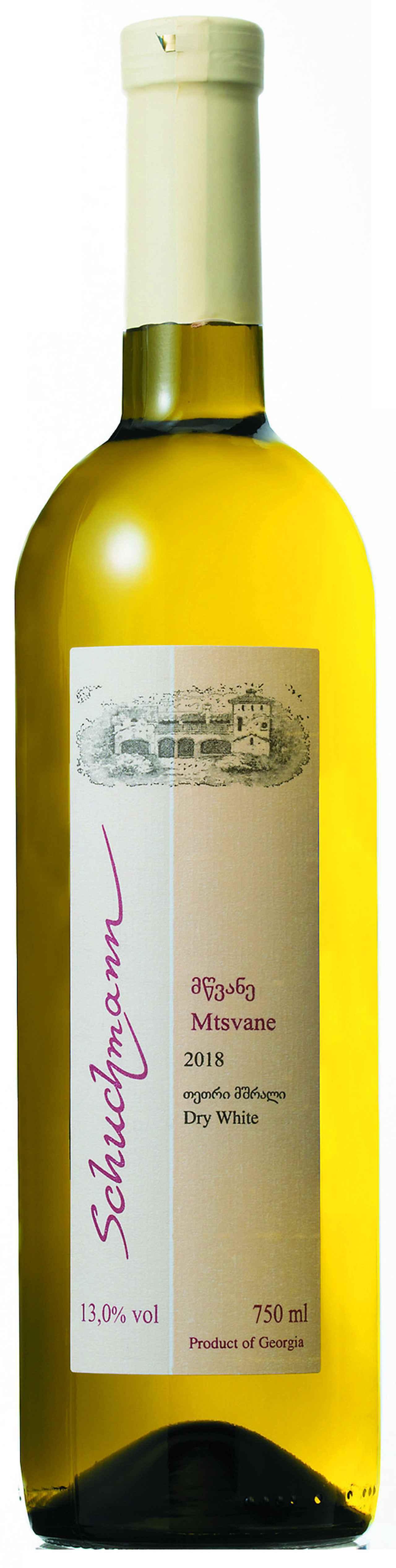 画像: 『ムツヴァネ 2018年』 生産者:シュフマン・ワインズ 生産地域:カヘティ 品種:ムツヴァネ100% 価格:1580円(税別) 輸入元:日本酒類販売㈱