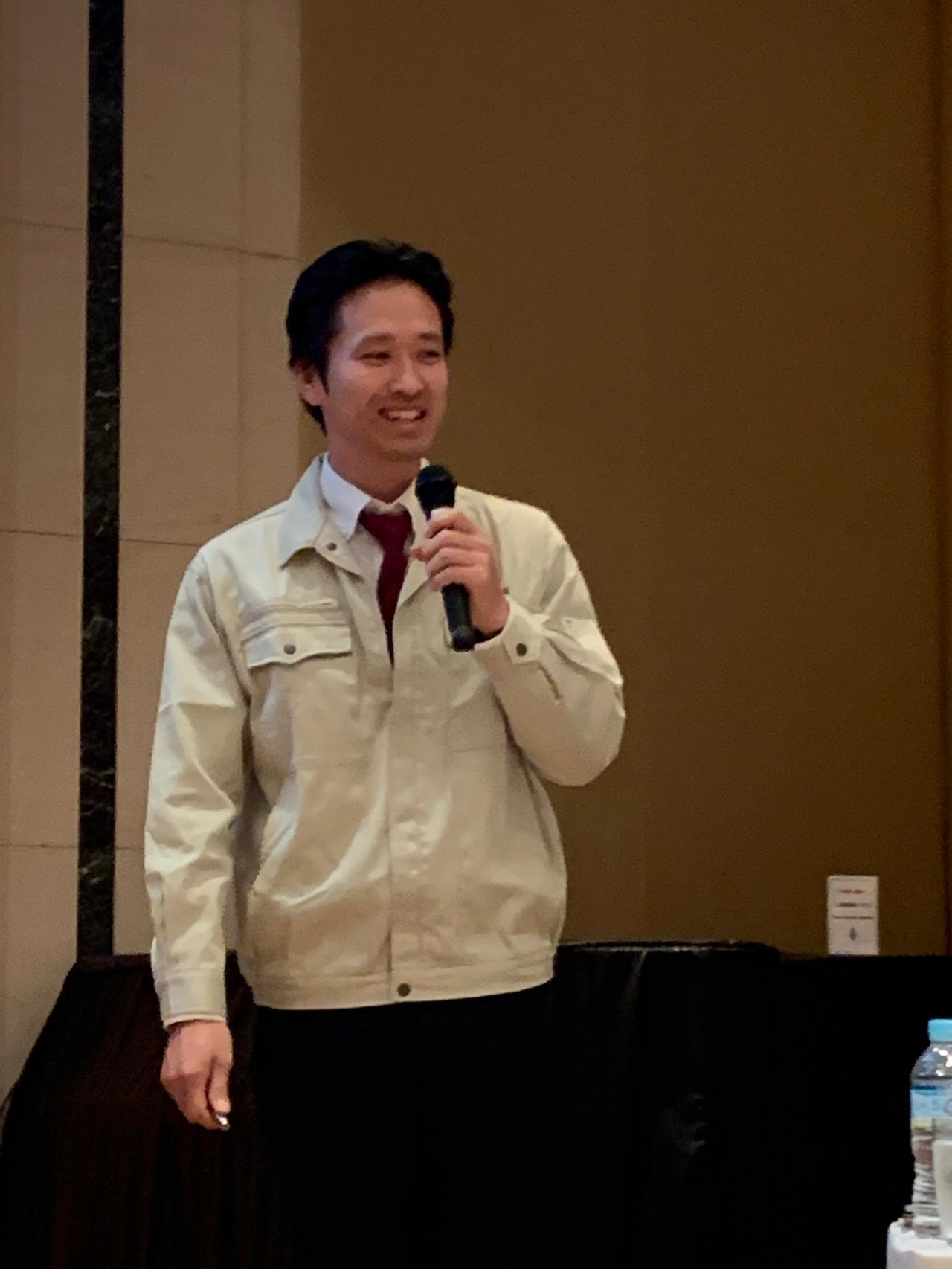 画像: 製造部リーダーの上野翔氏