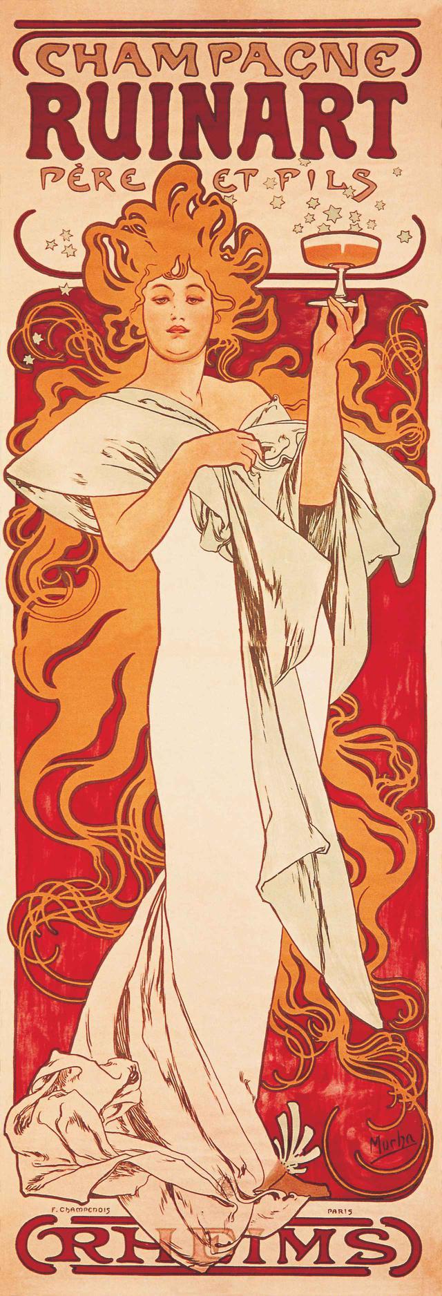 画像: 「ルイナール」では自らの伝統、歴史、卓越性を広めていくコミュニケーションを芸術を通して行っており、その歴史はベル エポックの1896年に遡り、アール ヌーヴォーの旗手と謳われたアルフォンス ミュシャへ広告ポスターを依頼し、世間を魅了したことに始ま始まる。2000年以降はブランドの性 質や価値観を伝えるため、時代の先端を行くアーティストとのコラボレーションを毎年実施