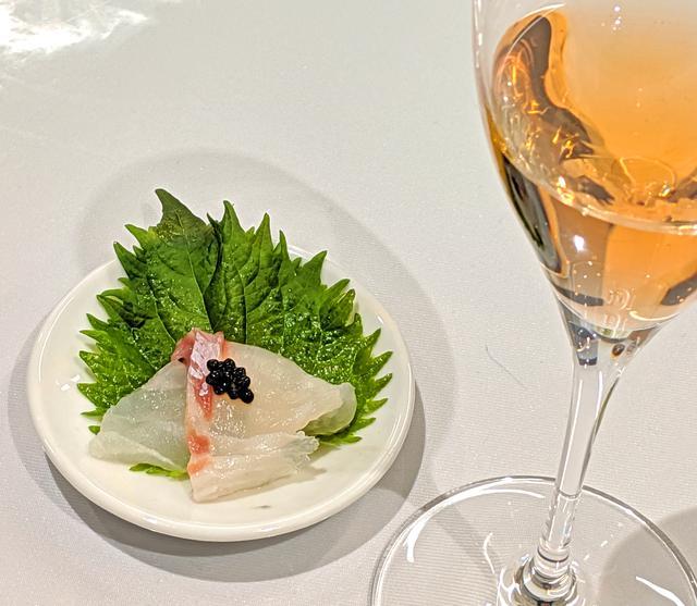 画像: 鯛の刺し身 ×『熟成うま味キャビア』