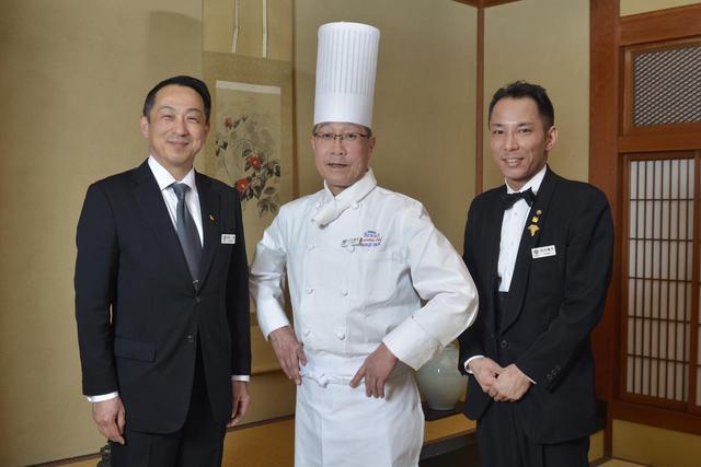 画像: 今回の企画をプランニングしたシニアソムリエの鈴木清氏、総料理長の入江真史氏、ソムリエの浅井謙至氏(左から)