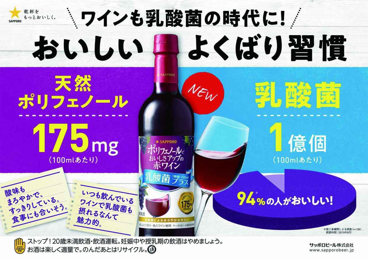 画像: 乳酸菌をプラスしまろやかな味わいに!『ポリフェノールでおいしさアップの赤ワイン<乳酸菌プラス>』