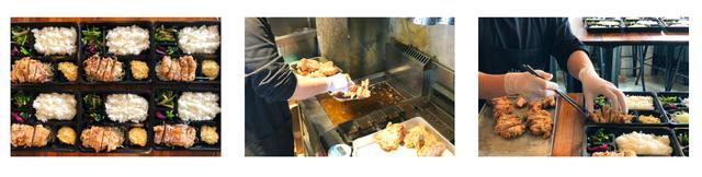 画像: 配達するお弁当の一礼。直営店の厨房を活用し、栄養バランスに配慮したお弁当を用意する