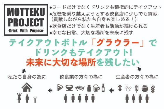 画像: MOTTEKU PROJECT (ドリンクもテイクアウトして飲食店を応援!!)