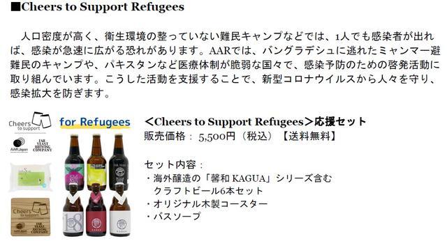 画像1: 支援先によって2セットから選べる「Cheers to Support」