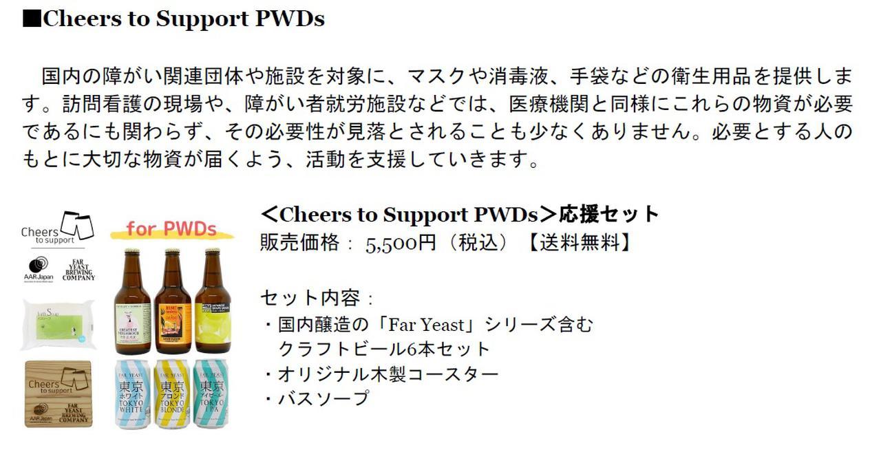 画像2: 支援先によって2セットから選べる「Cheers to Support」