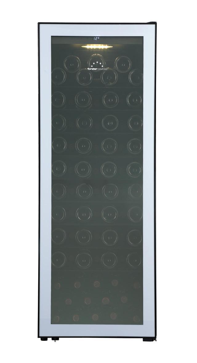 画像: こちらは色違いの『ホームセラーFJH-200GS(SL)』。ともに収納本数は84本。設定温度は5~20℃の1温度帯タイプだ