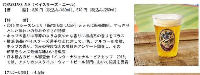 画像2: 球団オリジナル醸造ビール「ベイスターズ・エール」「ベイスターズ・ラガー」