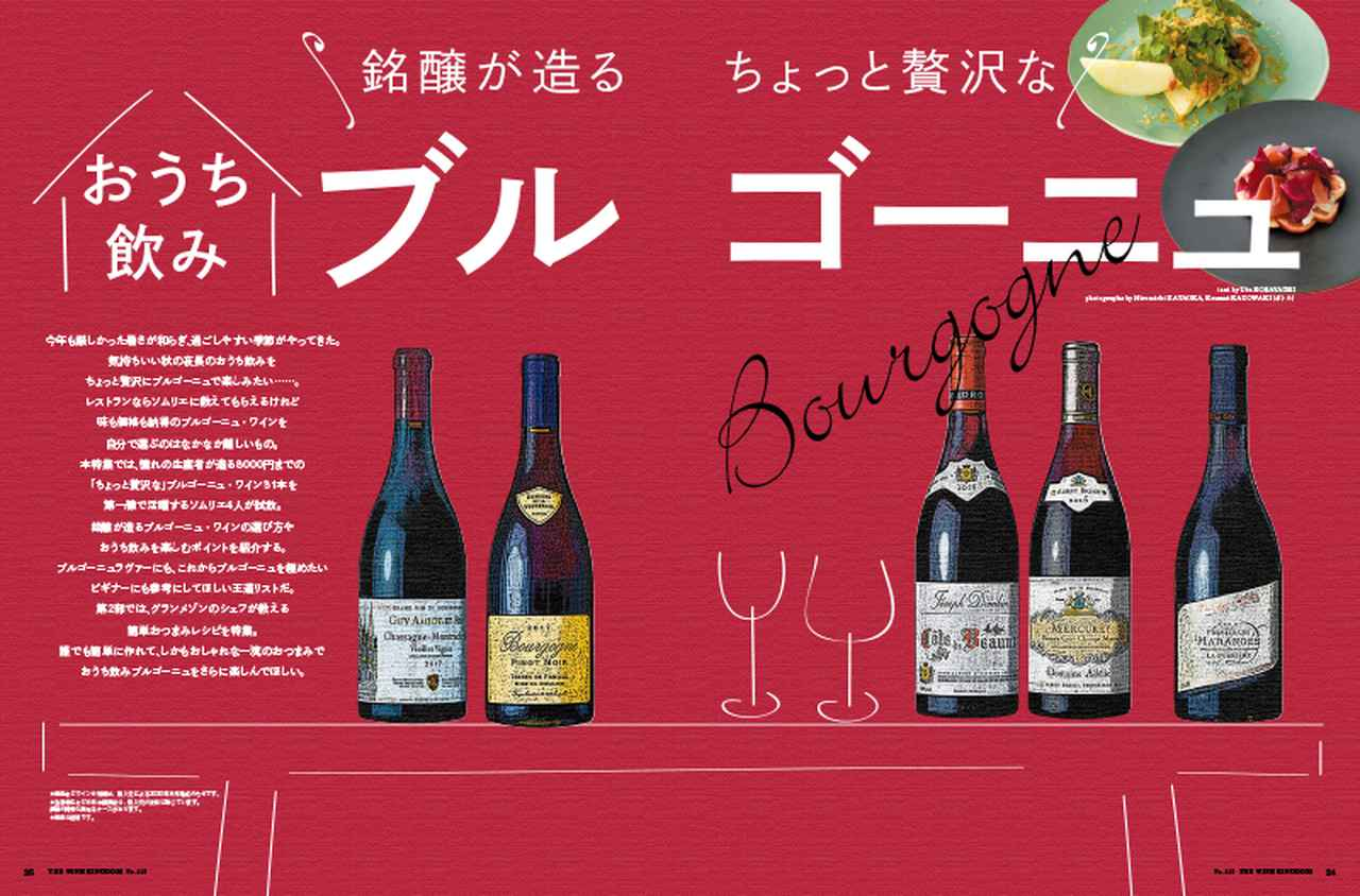 画像1: 『ワイン王国 119号』銘醸が造る ちょっと贅沢なおうち飲みブルゴーニュ/日本ワインをとことん楽しむ!/ワイン好きにぜひ飲んでいただきたい日本酒