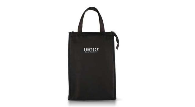 画像: エノテカオリジナルワインバッグ 2本用 黒 高さ370mm×幅250mm×奥行160mm 価格:1800円(税別)