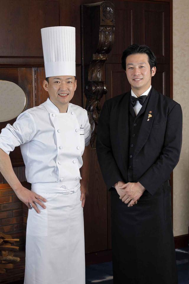 画像: 「フランス料理 ル シエル」より、「鹿児島ならではのマリアージュを!」と、坂本和馬料理長と副店長でソムリエの永吉和也氏