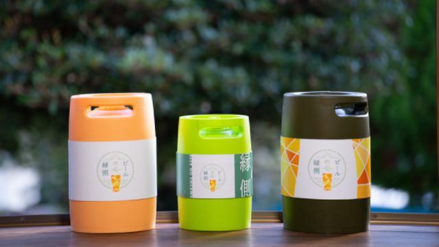 画像: デザインもかわいらしい専用樽「飲ん樽」、サイズは3Lと5Lの2種類から選べる
