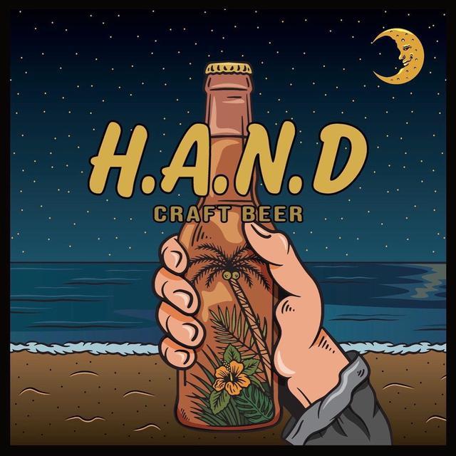 画像: H.A.N.DのラベルはイラストレーターのBARTHDAYWORKSが描いた。夜のビーチの落ち着いた空気感を醸し出している