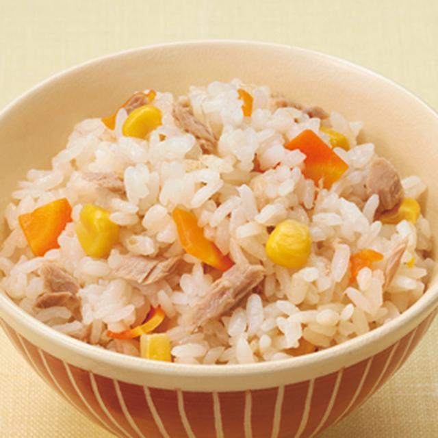 画像: ツナとコーンの炊き込みご飯|レシピ|株式会社にんべん