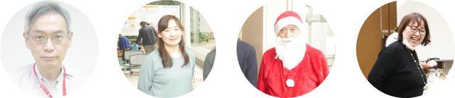 画像: 子ども食堂を運営されている方々 (左から 医師:楠先生 看護師:笹畑さん サンタさん 看護師:藤崎さん) ※サンタさんはクリスマス会の時のみトナカイさんと参加